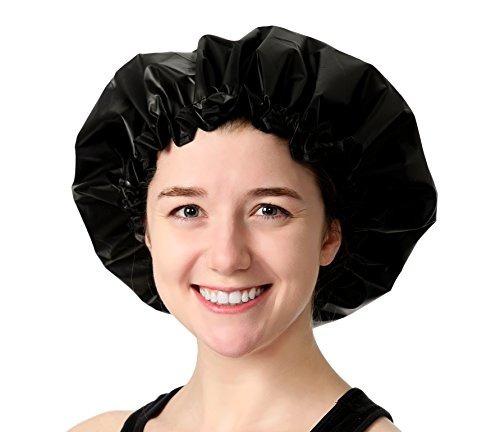 gorra de ducha grande ajustable: la toalla de ducha satin dr