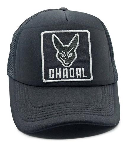 gorra de  el chacal - parche negro