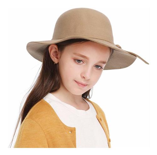 gorra de fieltro de lana para niñas con diseño de cúpula