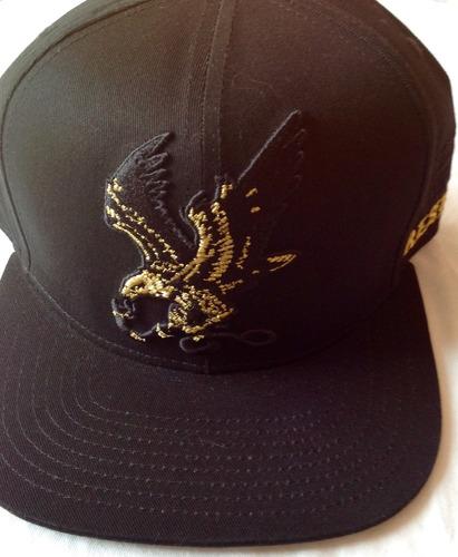 gorra de lujo aguila dorada 3d algodon visera plana negra