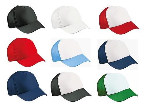 gorra de malla 3 unds camionero trucker para sublimar bordar