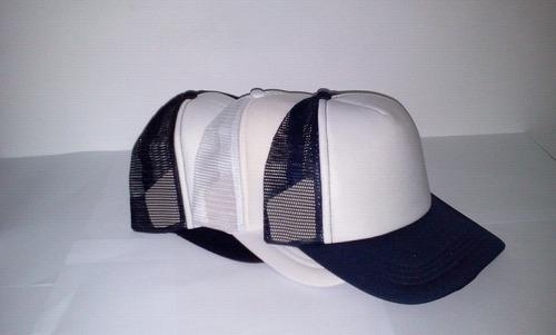 gorra de malla frente blanco ajustable