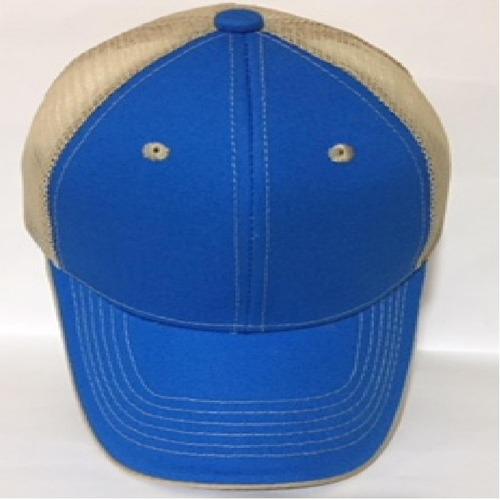 gorra de malla frente gabardina/acrilana economica 6 gajos