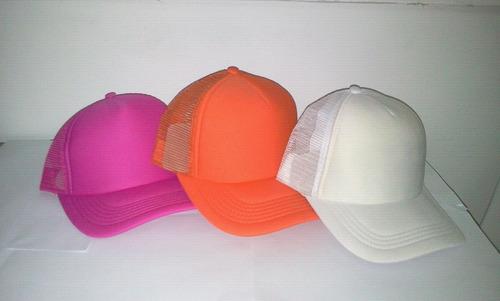 gorra de malla unicolor ajustable