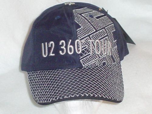 gorra de u2 original de la gira 360 grados azul