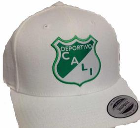 1d098f8626f1 Gorra Deportivo Cali Licenciada Visera Curva De Lujo Blanca