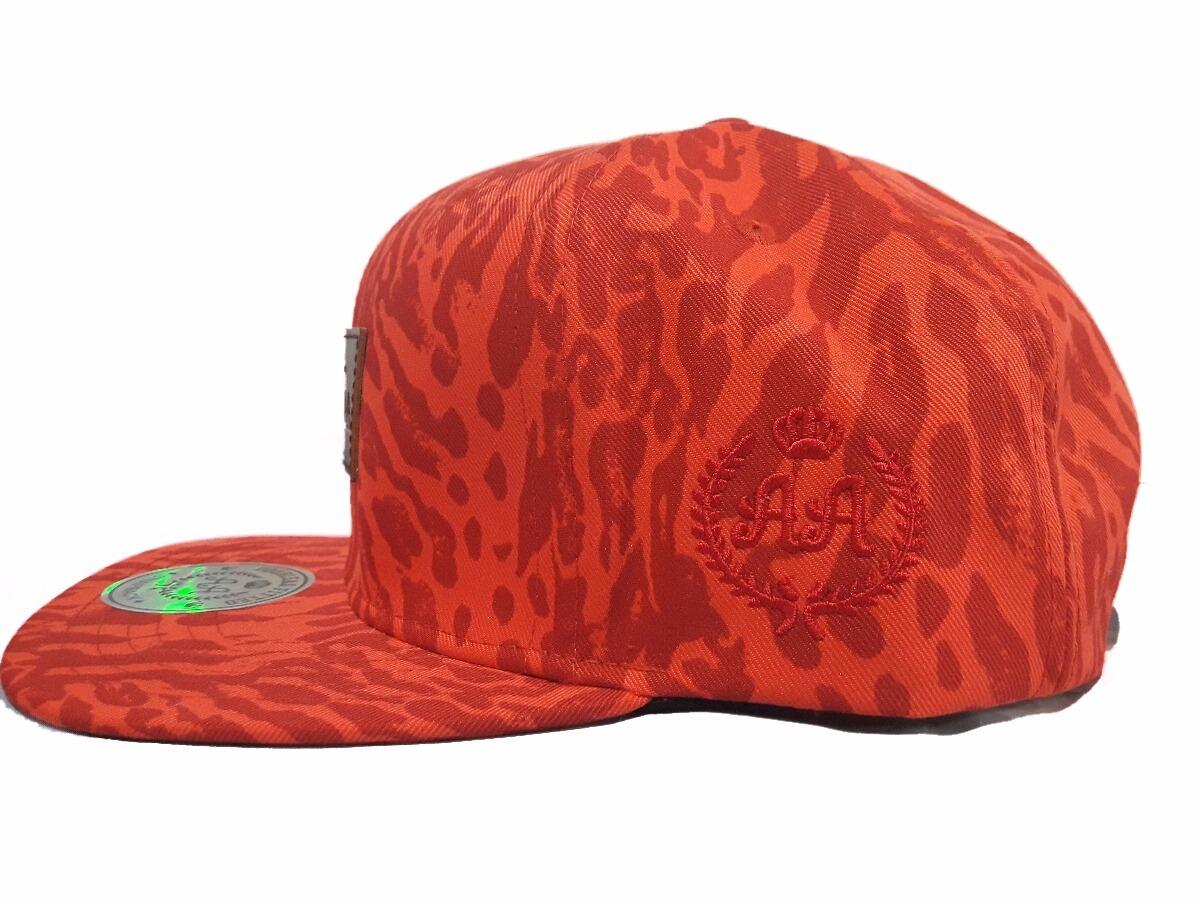 Gorra double aa visera plana snapback hip hop rojo atigrado cargando zoom  jpg 1200x900 Snapback atigradas ec1a6d045d4