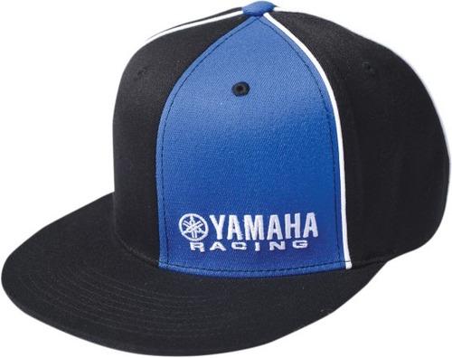 gorra factory effex yamaha hombre flexfit  negro/azul lg/xl