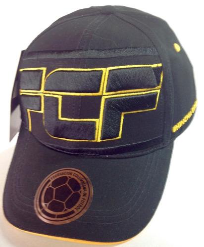 gorra fcf  bordado federacion colombiana de fútbol negra