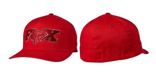 gorra fox ellipsoid flexfit rojo casual