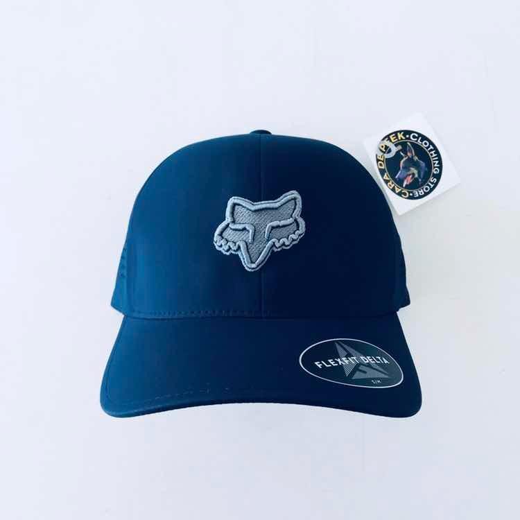 Gorra Fox Flexfit Delta! Azul -   599.00 en Mercado Libre c05ec00c678