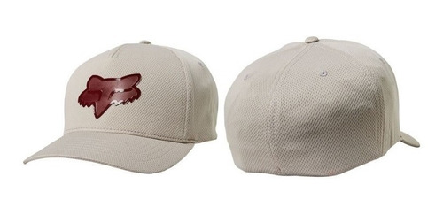gorra fox flexfit glassy gris casual