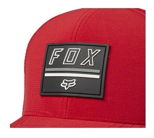 gorra fox flexfit serene purpura/rojo casual