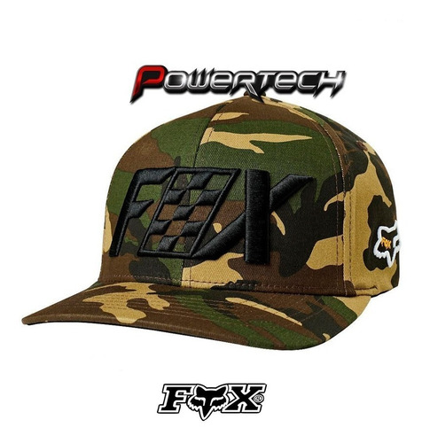 gorra fox racing czar flexfit camo