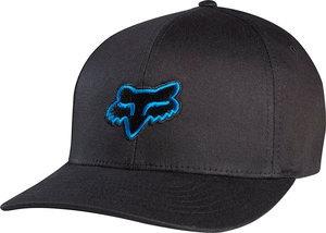 gorra fox racing legacy 2014 hombre flexfit negro/azul sm/md