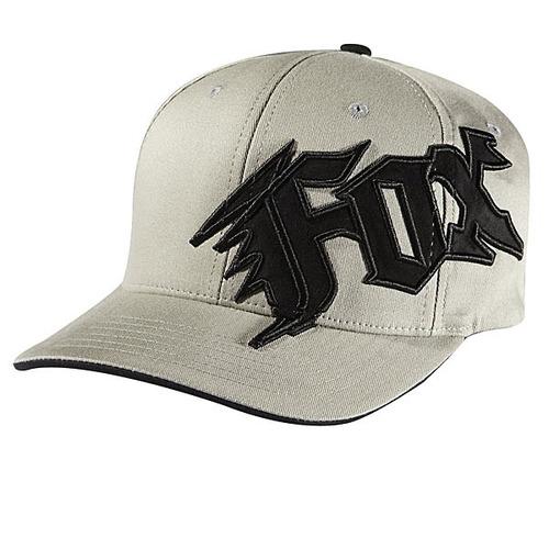 gorra fox racing new generación juvenil flexfit blanco/negro