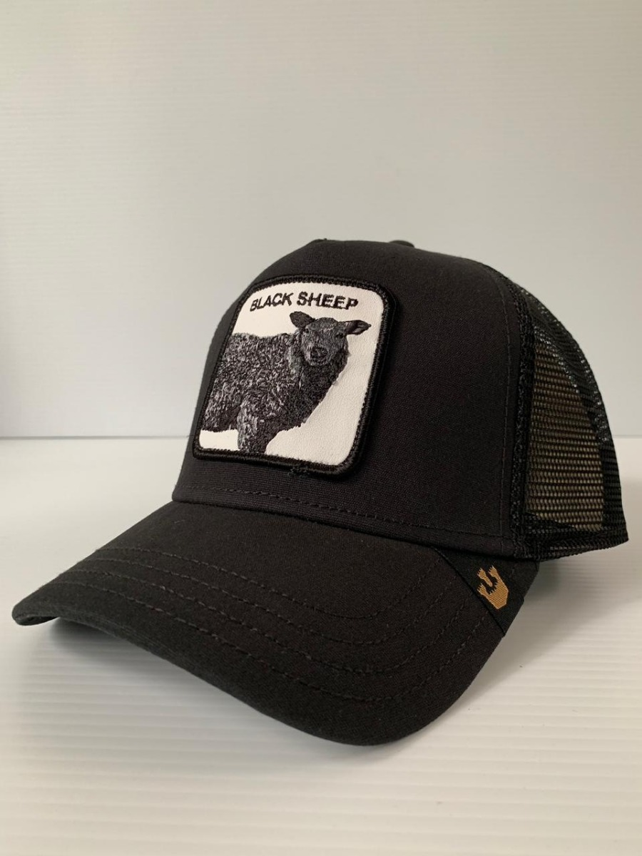 81affcd1 gorra goorin bros. trucker animal farm black sheep oveja neg. Cargando zoom.
