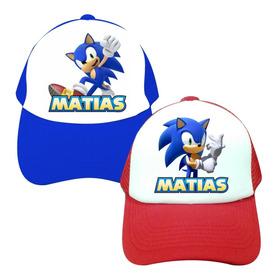 Gorra Gorras Niño Niña Sonic Personalizada