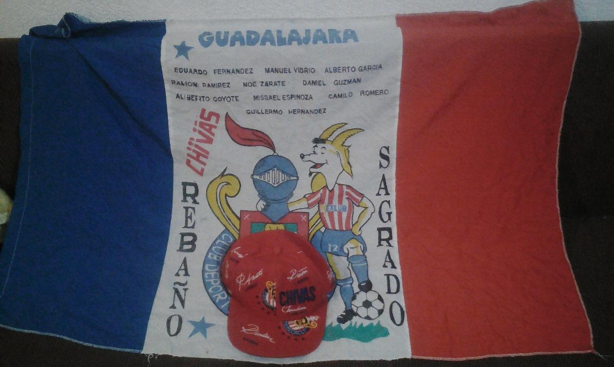 Gorra Guadalajara Con Firmas Bordadas Y Bandera 1998 -   349.00 en ... 93c02167fa3