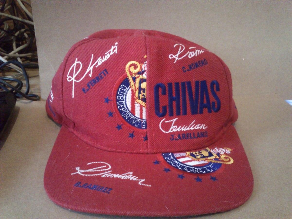 80a614e28e81f Gorra Guadalajara Con Firmas Bordadas Y Bandera 1998 -   320.00 en ...