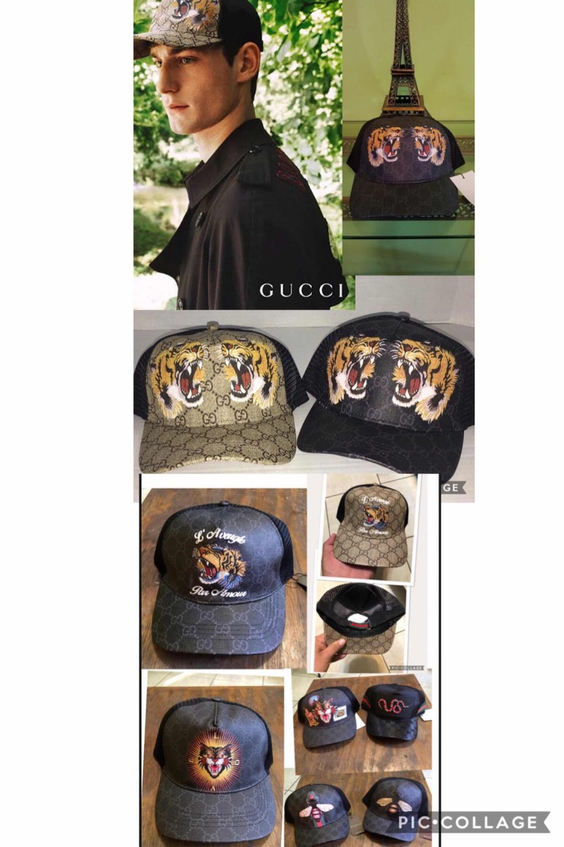 Gorra Gucci Tigre Serpiente Gato Abeja 7 Modelos -   380.00 en ... 7a4e9995b76