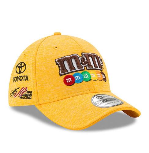 gorra importada nascar new era 39thirty yellow m&m's