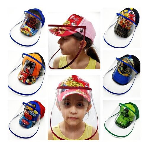 gorra infantil careta acetato escualizable protección niños