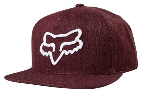 gorra instill snapback viser logo bordeau moto fox juri