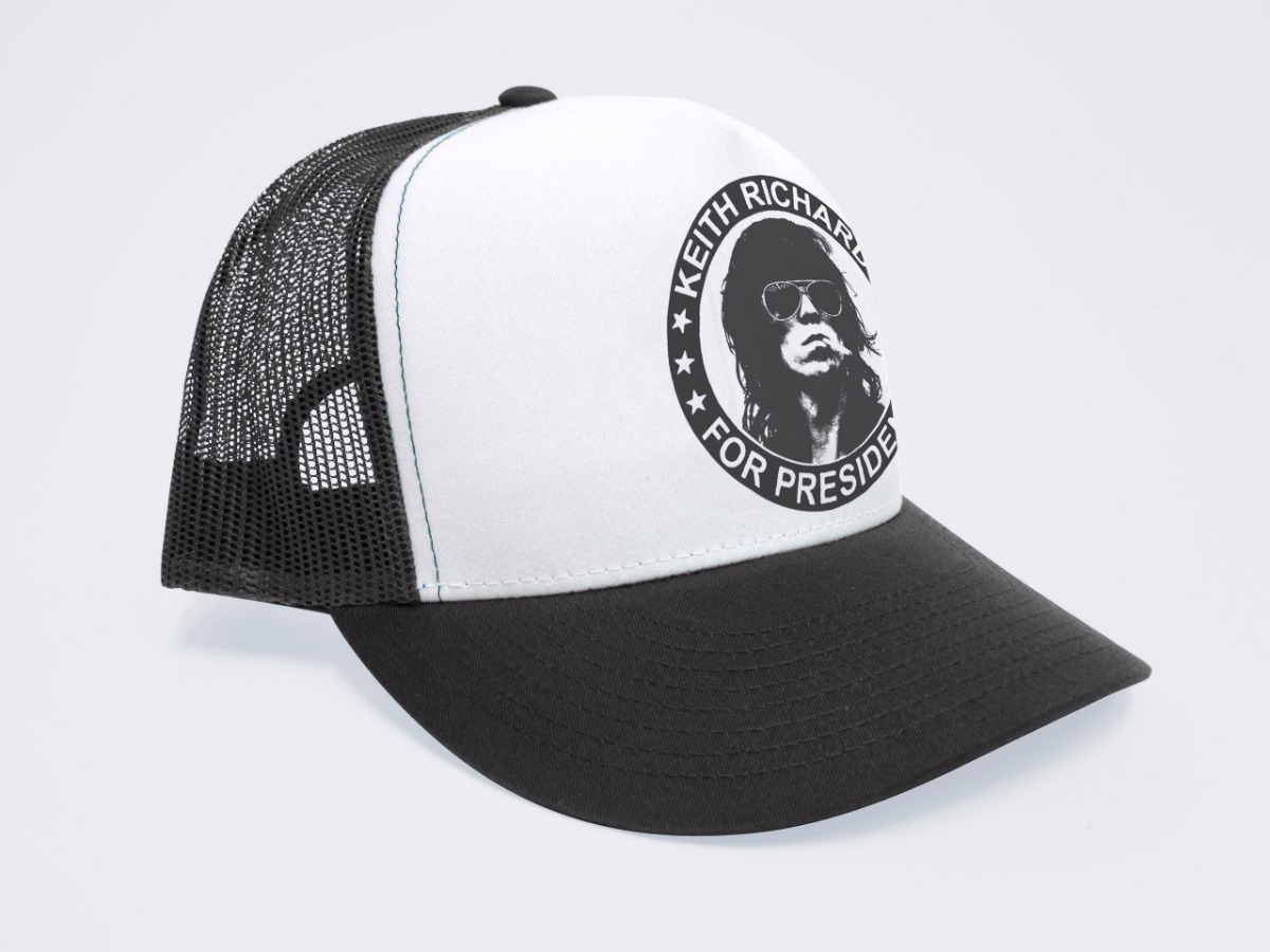5ff1be36e1ed1 gorra keith richards rolling stones trucker personalizada. Cargando zoom.