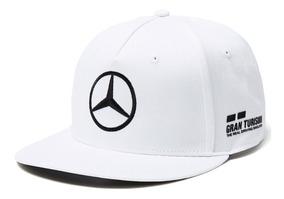 5b437817 Gorra Lewis Hamilton F1 Amg Mercedes Plana Blanca Negra 2018