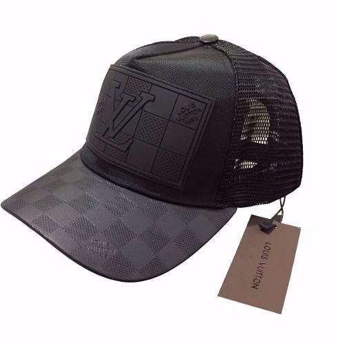 5a3cc2c45b229 Gorra Louis Vuitton Negra Piel Envío Gratis -   450.00 en Mercado Libre