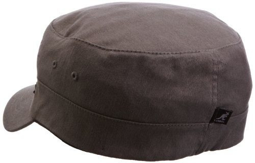 gorra militar de sarga kangol, gris, pequeña / mediana