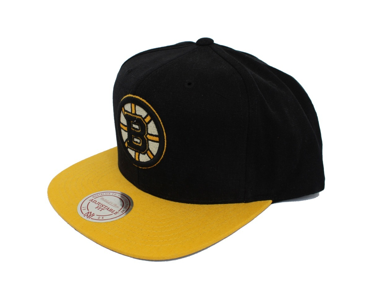 new style d928a 801ab gorra mitchell   ness, logo nhl boston bruins, snapback. Cargando zoom.