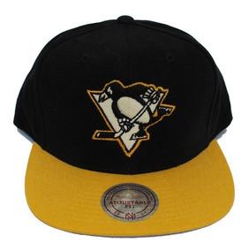 brand new b4f30 6af2c Gorra Mitchell   Ness, Logo Pittsburgh Penguins, Snapback