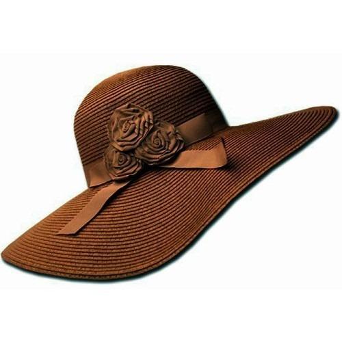 gorra mujeres upf 50 100% de la cinta de paja flor de papel