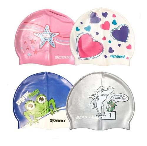 gorra natacion silicona speed con diseño niños / niñas