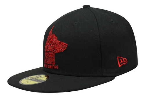 gorra new era 5950 lmx xolos letter red negro