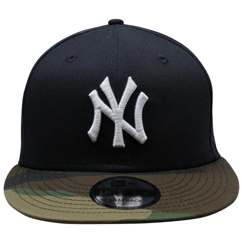 gorra new era 9 fifty mlb yankees team camo azul marino