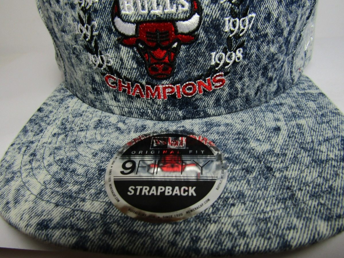 Gorra New Era Chicago Bulls Denim Champions Autentica -   699.00 en ... f8448d51ceb