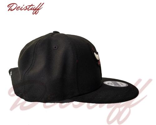 Gorra New Era   Chicago Bulls   Negra   Snapback -   860.00 en ... ef603424255
