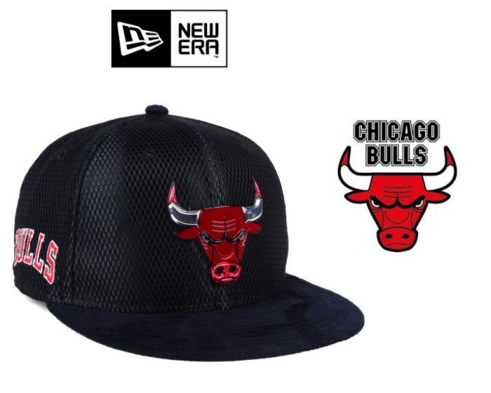 3f9fe08f75448 Gorra New Era Chicago Bulls Snapback Acolchada Original - S  120