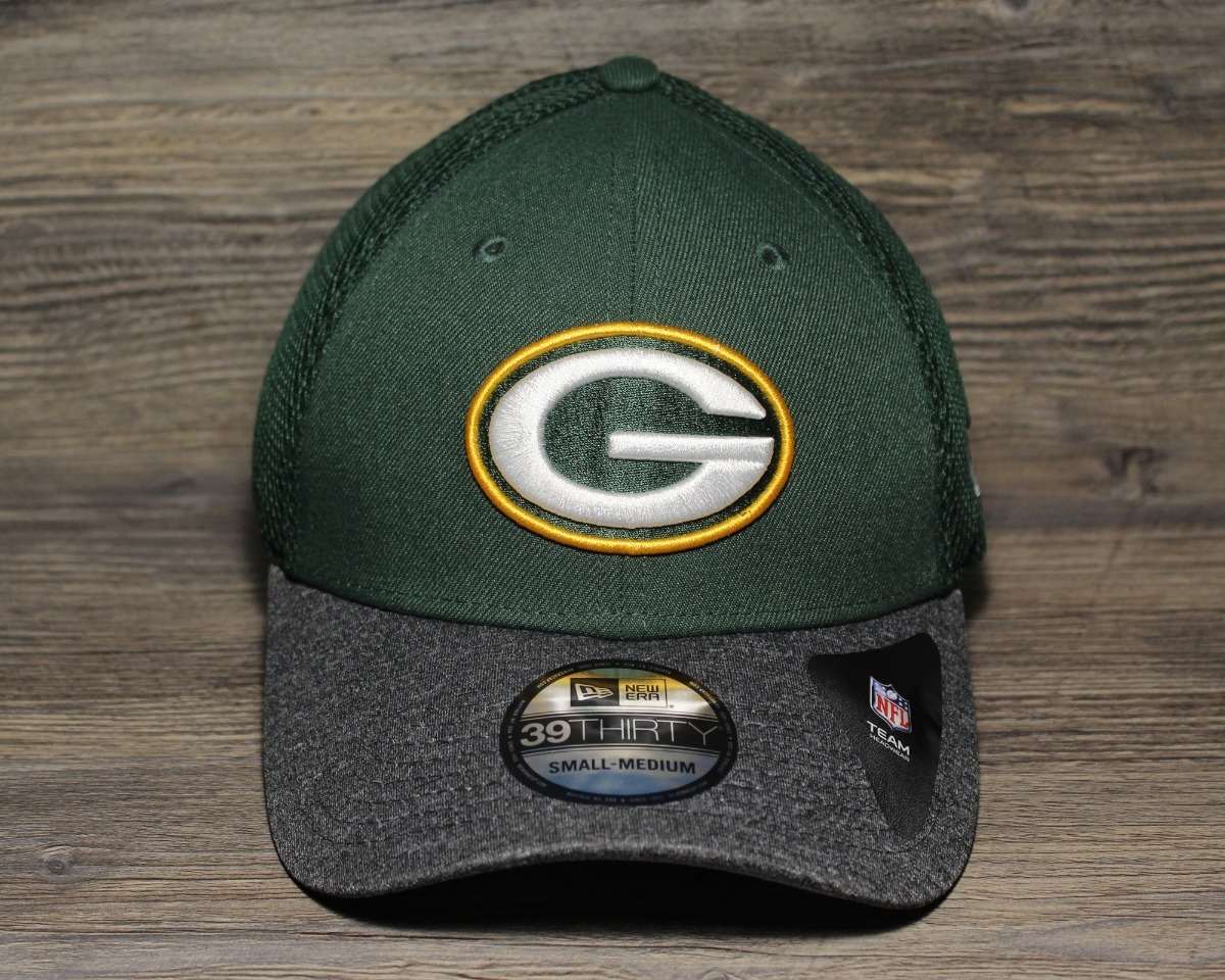Green Bay Packers New Era 39thirty Fitted cap//hat Small-Medium New Free Postage