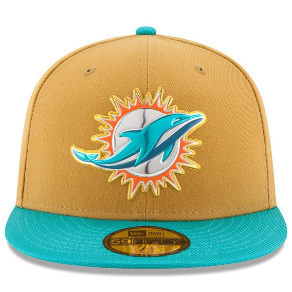 Gorra New Era Miami Dolphins On Field 59fifty Fitted Hat -   699.99 ... 75490e8bf33