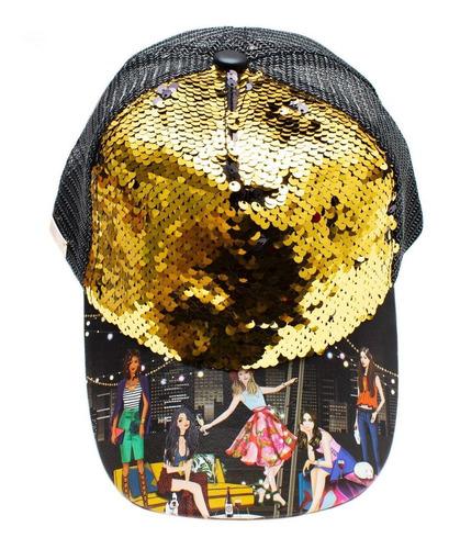 gorra nicole lee alana estampada con lentejuela multicolor