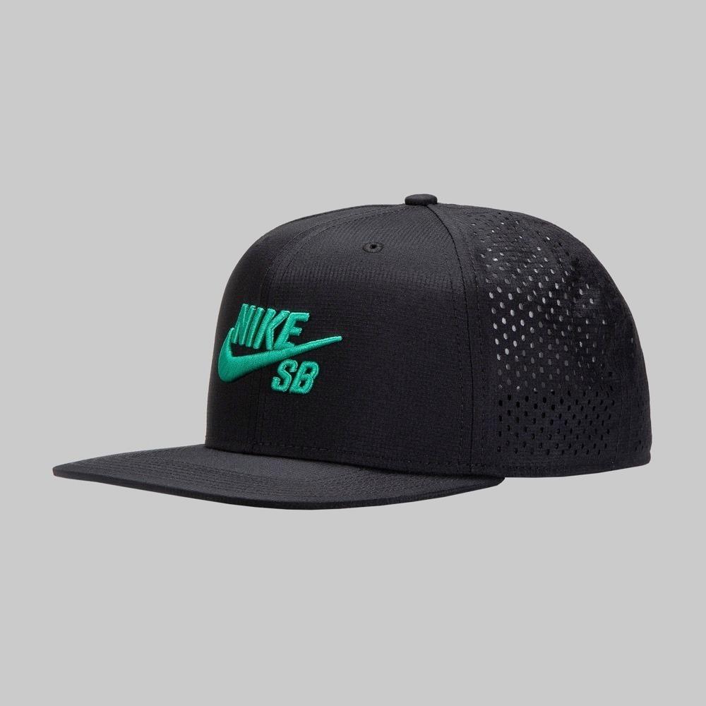 gorra nike sb negro logo verde dri fit nuevo modelo original. Cargando zoom. dabd683002c