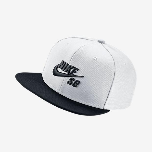 74375f6e90c1 Gorra Nike Sb Plana Blanca Y Negra