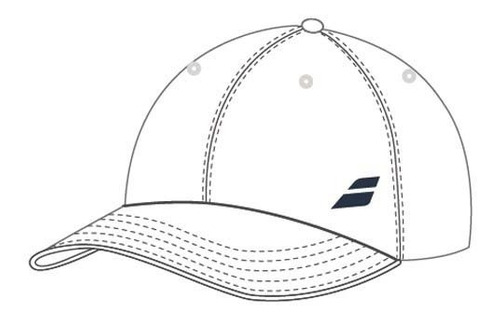 gorra niño de tenis babolat basic logo blanca
