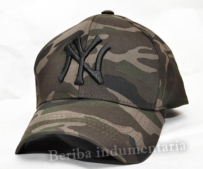 ceec291322e54 Gorra Ny New York Yankees Camuflada Bordadas -   399