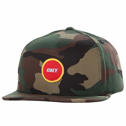 gorra obey circle parch field camo marcas de skate / surf ¦