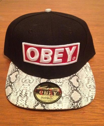 gorra ** obey ** plana y regulable - excelente calidad